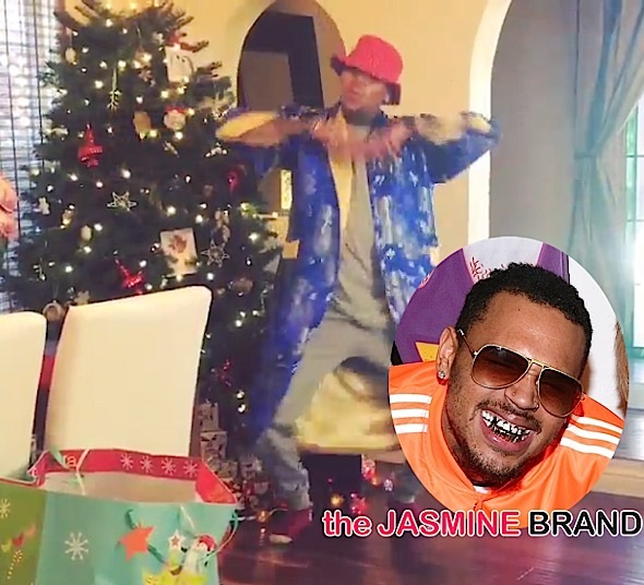 Chris Brown, Justin Bieber, Lil Mama Dance-Off For Instagram #ChristmasChallenge [VIDEO]