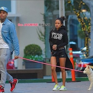 Chris Brown-Karrueche Reconcile-Walk Christmas Puppy-the jasmine brand