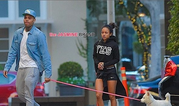 A Reconciled Karrueche Tran & Chris Brown Spotted in Beverly Hills [Photos]