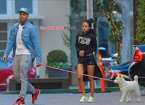 Chris Brown-Karrueche Reconcile-Walk Christmas Puppy-the jasmine brand
