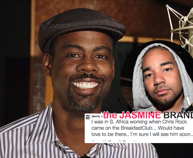 Chris Rock Explains Beef with DJ Envy: He's an a**hole! [VIDEO]