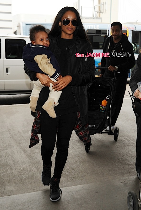 Ciara and her baby Future seen at LAX