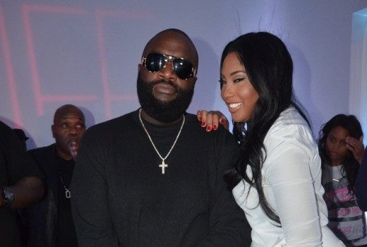 Rick Ross Pops-Up For Girlfriend Ming Lee's Holiday Party [Photos]