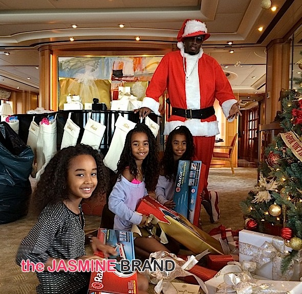 Celebrity Christmas Photos: Oprah, Diddy, Rita Ora, Lil Wayne, Diddy, Chris Brown, Ray Rice, Kimora & Russell Simmons, Kevin Hart