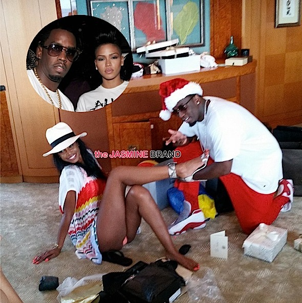 Diddy Leaves Cassie At Home, Brings Ex Kim Porter On Family Vacay [Photos]