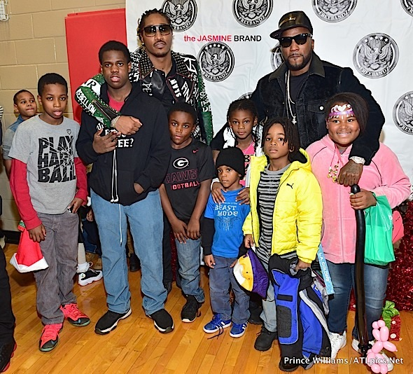 Rapper Future Hosts Charity Coat Drive + Jeezy Attends [Photos]