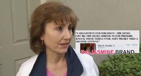 GOP Secretary Kim Crenier-Tweets Ferguson Thugs Deserve Fire Hoses-the jasmine brand