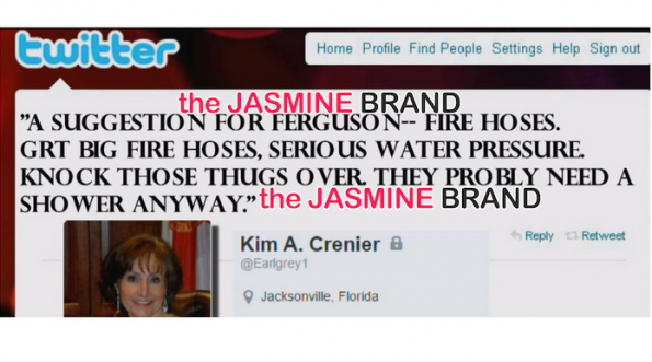 GOP Secretary Kim Crenier Tweets Ferguson Thugs Should Deserve Fire Hoses-the jasmine brand