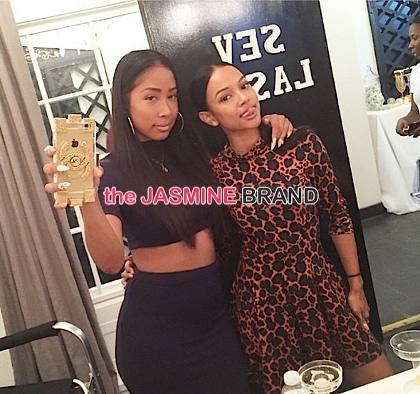 Karrueche Tran-Hosts Pamper Party-the jasmine brand