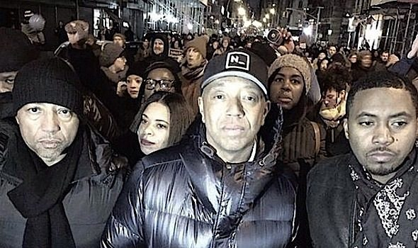 Protests Continue in DC & NYC: Russell Simmons, Nas, Dick Gregory March [Photos]