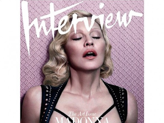 Madonna-Covers Interview Magazine-the jasmine brand