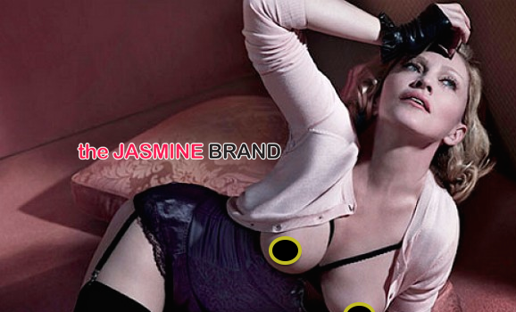 Madonna Takes Her Top Off For Interview Mag [Photos]