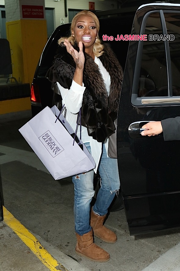Nene Leakes was spotted this afternoon as she left Huff Post in NYC