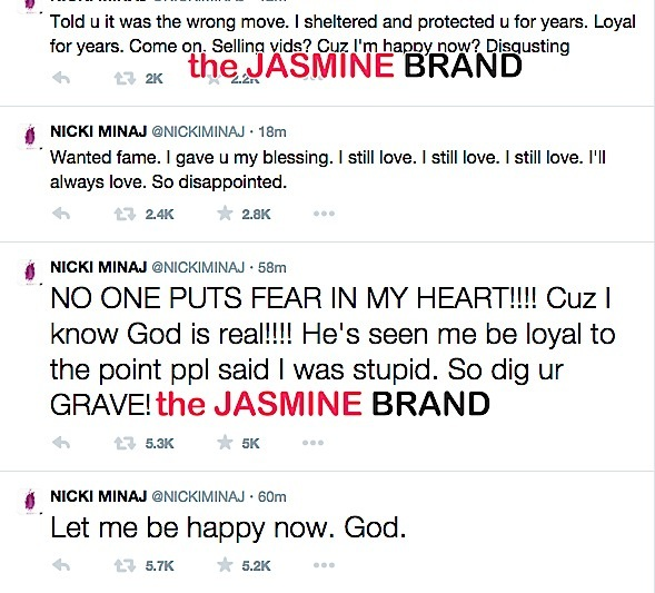 Nicki Minaj-Ex Boyfriend Safaree-Twitter Fight-the jasmine brand