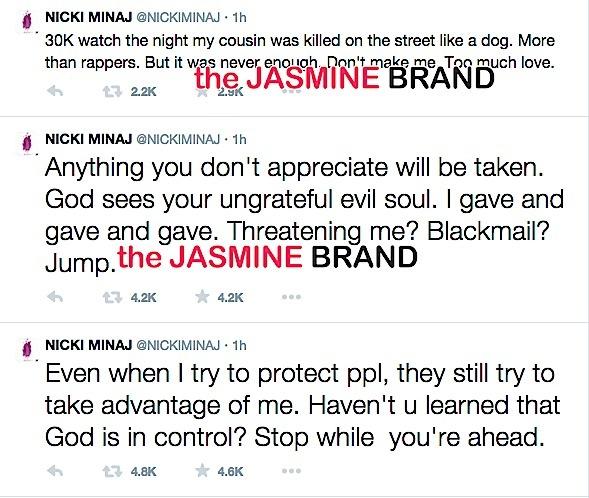 Nicki Minaj-Safaree Samuels Twitter Fight-the jasmine brand