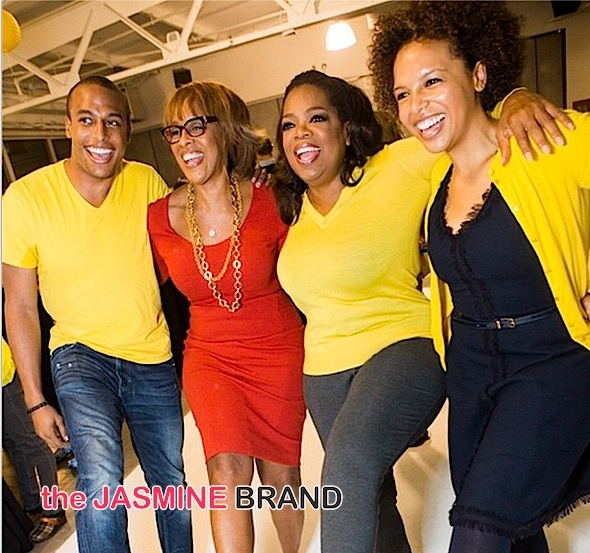 Gayle King With Son, Daughter & Oprah Winfrey