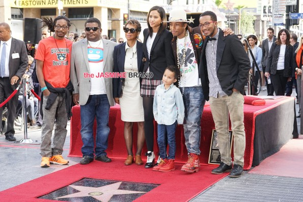 Pharrell Williams is honored with a star on the Hollywood Walk of Fame