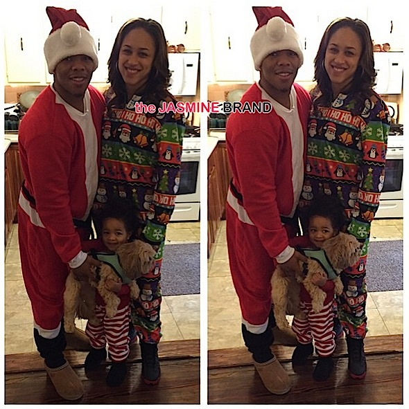 Ray Rice-Janay Rice-Celebrities Christmas-the jasmine brand