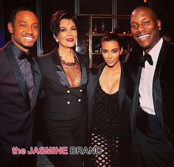 Terrence J, Kris Jenner, Kim Kardashian, Tyrese