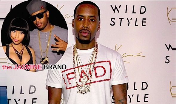 Nicki Minaj's Ex Safaree, Tweets Apology: I NEVER wrote her raps!