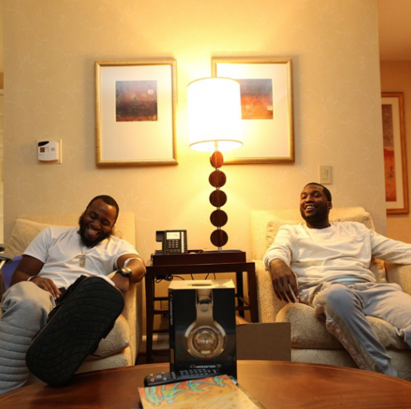 Meek Mill Hangs With Friend After Prison Release-2014-The Jasmine Brand