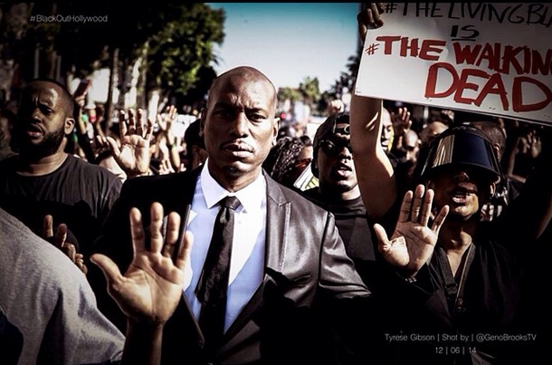 Blackout Hollywood Protest Draws: Tyrese, Quincy, Brandon T. Jackson, Masika Kalysha