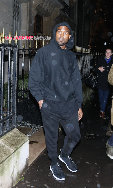 American producer and rapper Kanye West goes shopping at Montaigne market