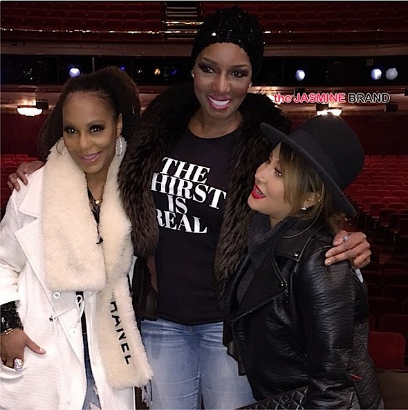 Tamar Braxton-Adrienne Bailon-NeNe Leakes on Broadway Cinderella-the jasmine brand