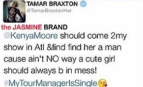 Tamar Braxton-Kenya Moore-Twitter Argument-the jasmine brand