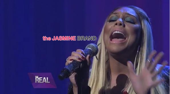 Tamar Braxton sings Silent Night-The Real-the jasmine brand