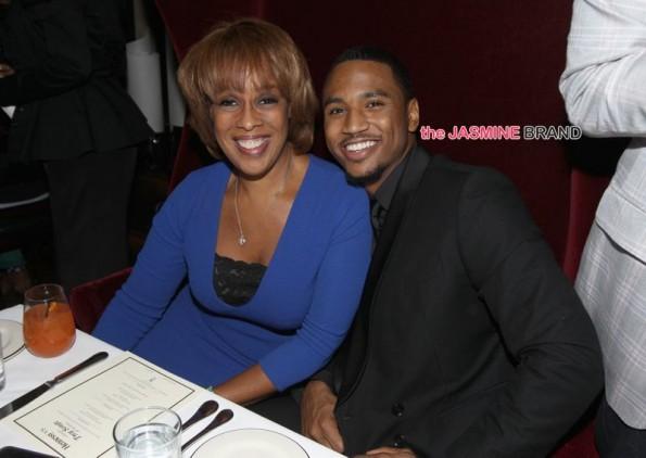 Trey Songz-Hosts 30th Birthday Dinner-Gayle King-the jasmine brand