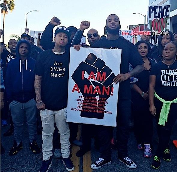 Tyga-The Game-Millions March LA-the jasmine brand