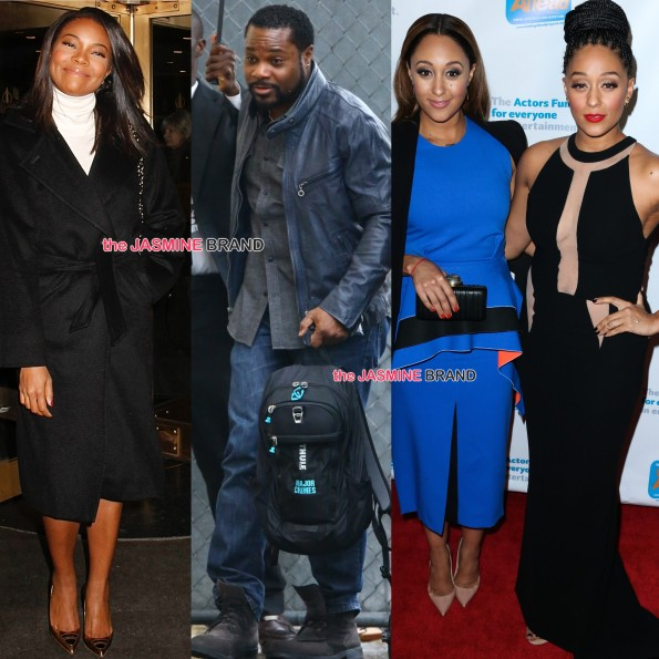 celebrity spotting-gabrielle union-malcolm jamal warner-tia and tamera mowry-the jasmine brand