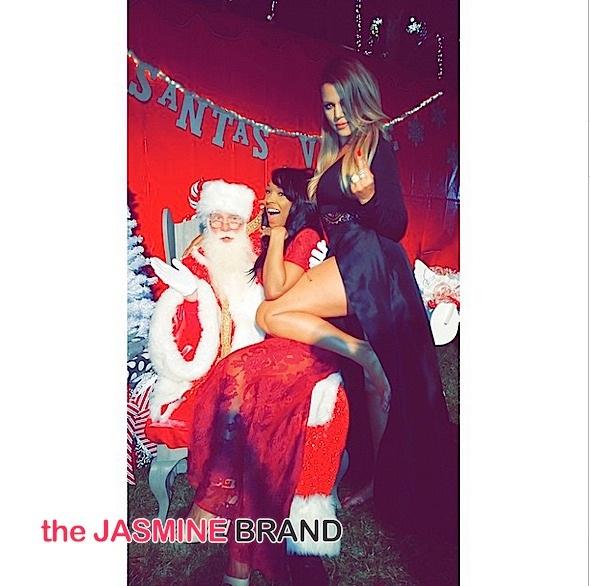khloe kardashian-bestie Malika Haqq-kris jenner holiday party-the jasmine brand