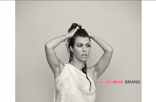[Haute, Pregnant & Nude] Kourtney Kardashian Poses Nude For 'DuJour'