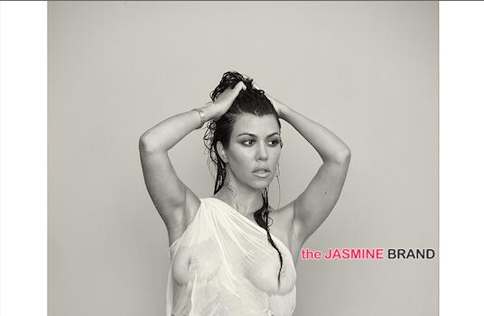 [Haute, Pregnant & Nude] Kourtney Kardashian Poses Nude For 'DuJour'