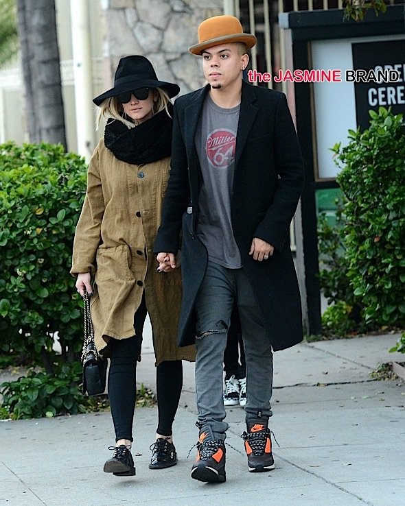 Ashlee Simpson and Evan Ross shop at Opening Ceremony