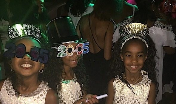 Rihanna, Russell Simmons, Tameka Raymond Party at Diddy's St. Barth's NYE Bash [Photos]