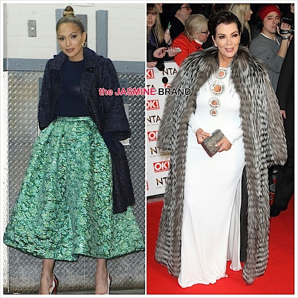 Celebrity Fashion: J.Lo In Christian Siriano & Kris Jenner In Emilio Pucci [Photos]
