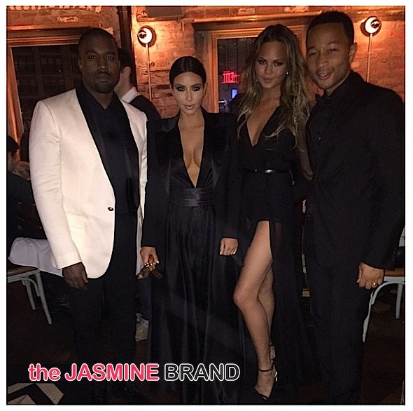Kanye West & Kim Kardashian Attend John Legend's NYC Birthday Bash [Photos]