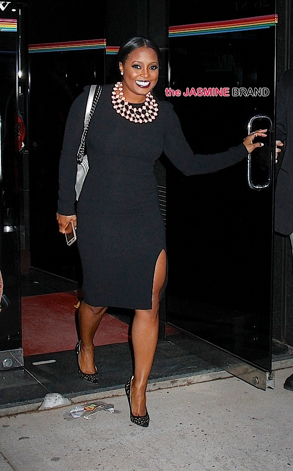 Eliminated 'Celebrity Apprentice' contestant and 'Cosby' show star Keisha Knight Pulliam leaves 'The Wendy Williams Show' in NYC