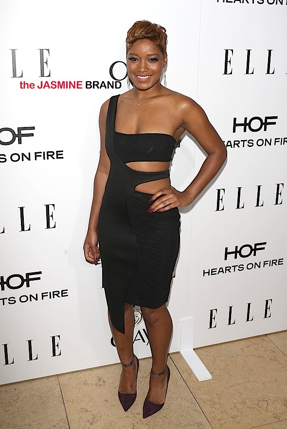 Keke Palmer arrives to the ELLE Magazine Annual Women in Television Celebration presented by Hearts on Fire Diamonds and Olay in Los Angeles