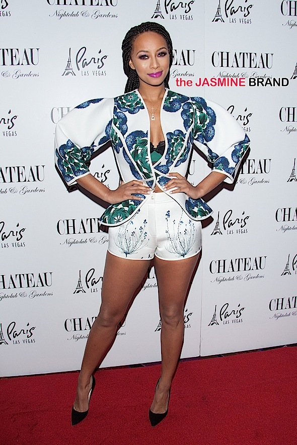 Keri Hilson hosts the New Years celebration at Chateau Nightclub in Las Vegas