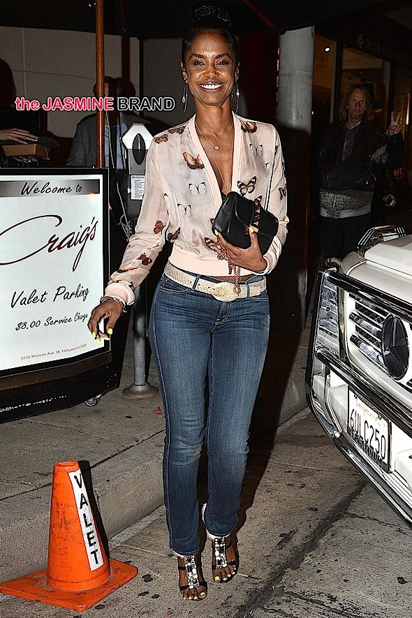 Kim Porter leaves Jeff Beachers Party in West Hollywood