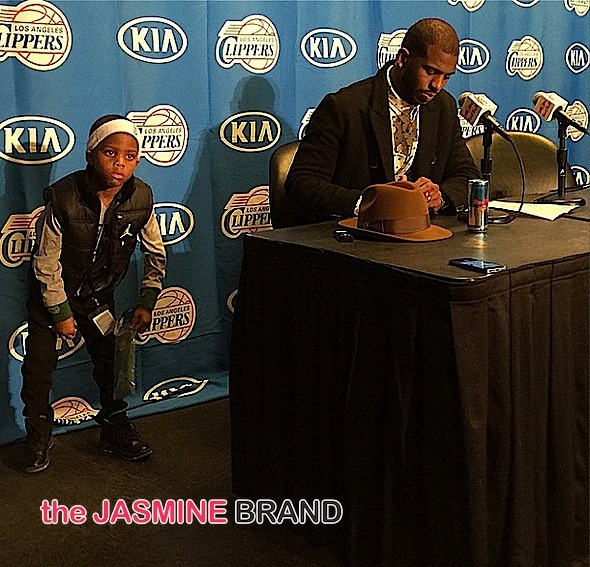 NBA LA Clippers Chris Paul-Son-Press conference-the jasmine brand
