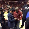 Pacquaio and Mayweather-exchange numbers-meet miami heat game-the jasmine brand