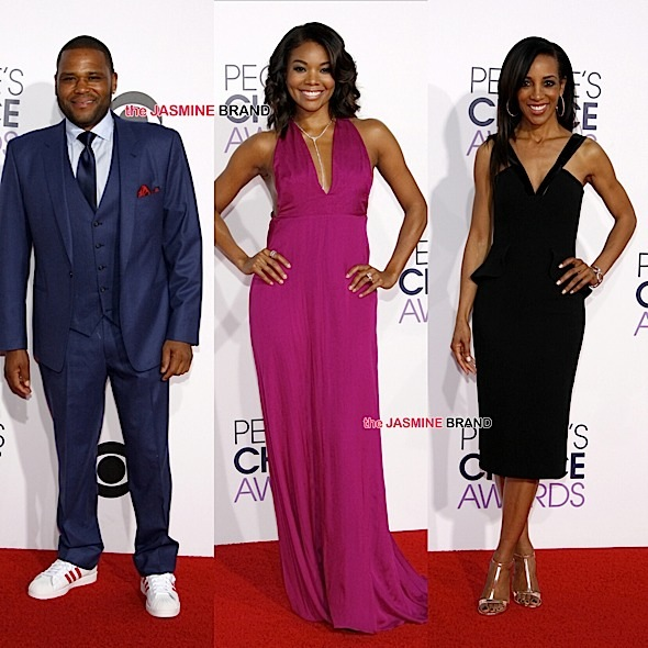 Peoples Choice Awards 2015-Gabrielle Union-Anthony Anderson-Shaun Robinson-the jasmine brand