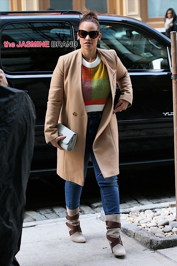 Dominican American actress Dascha Polanco arrives at the Crosby Hotel on January 21, 2015 in New York City