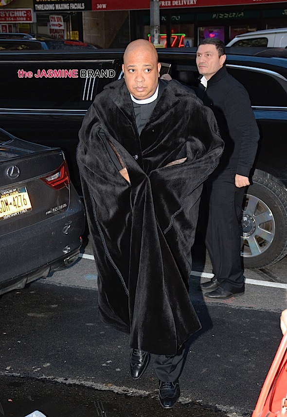 Rev Run aka Joseph Ward Simmons enters the 'Today' Show studios in NYC