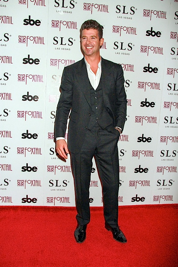 New Year's Eve Celebration with Robin Thicke at Foxtail Nightclub in Las Vegas on December 31, 2014